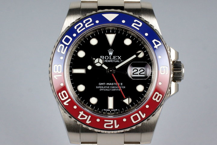 2016 Rolex WG GMT II 116710BLRO with Box and Papers photo