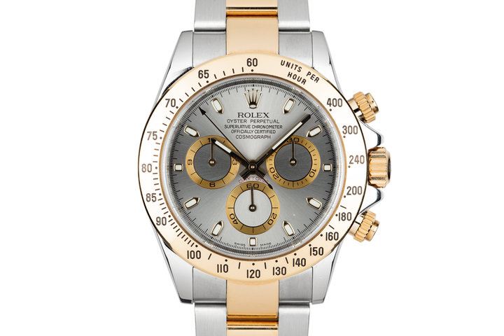 2006 Rolex Two Tone Daytona 116523 Grey Dial photo