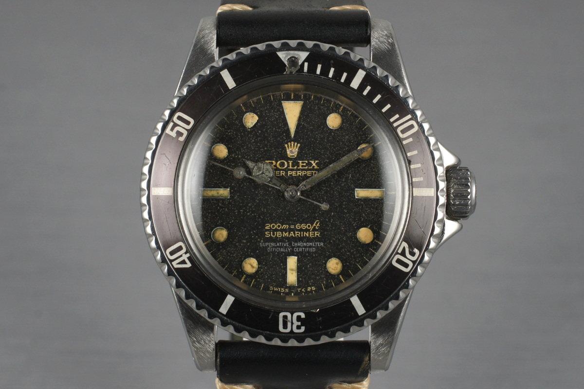 Hq Milton 1965 Vintage Rolex Submariner 5512 Gilt 4 Line Dial