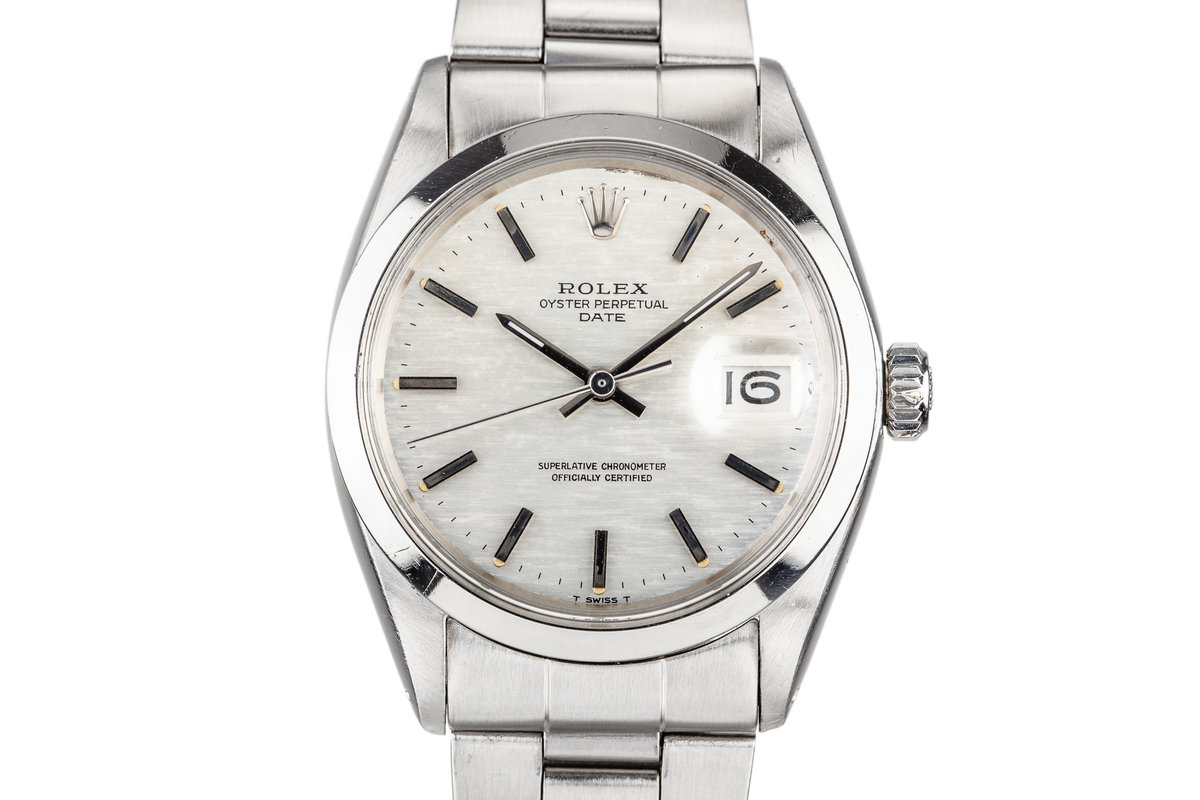 1970 Rolex Date 1500 with Silver Mosaic Dial photo, #0