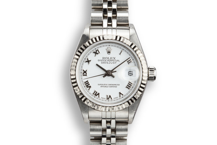2003 Rolex Ladies DateJust 79174 White No Lume Roman Numeral Dial with Box and Papers photo