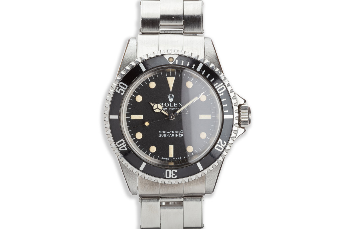 1967 Vintage Rolex Submariner 5513 Meters First Dial photo, #0