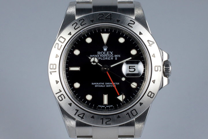 2009 Rolex Explorer II 16570 Box and Papers with 3186 Movement photo