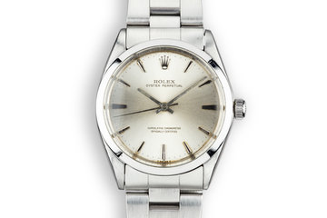 1965 Rolex Oyster Perpetual 1002 Silver Dial with Papers photo