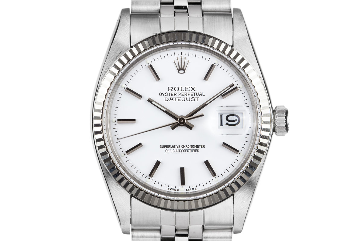 1972 Rolex DateJust 1601 with White Dial photo, #0