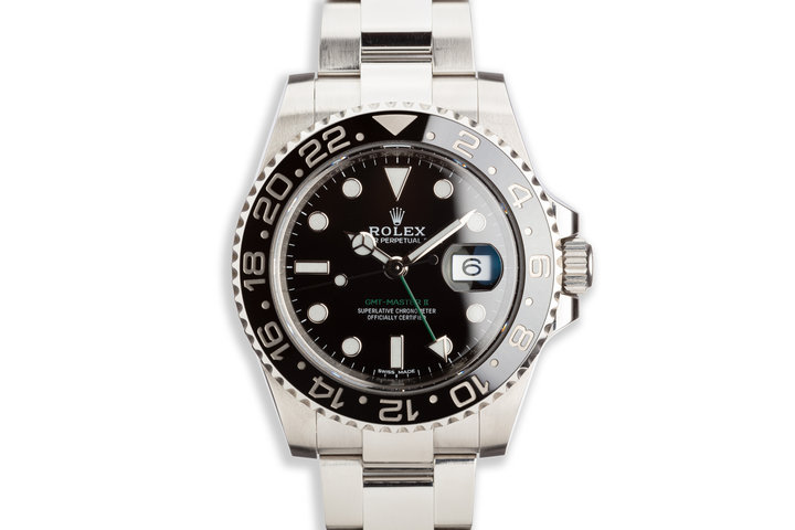 2018 Rolex GMT-Master II 116710LN Black Bezel with Box and Card photo