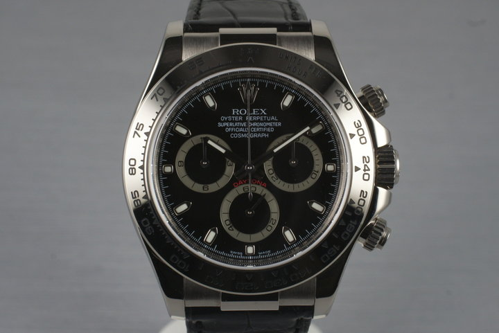 2007 Rolex 18K WG Daytona 116519 with Box and Papers photo