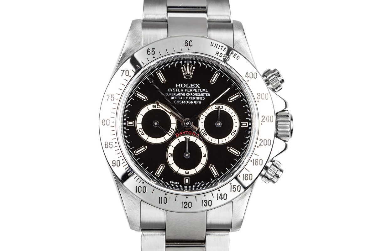 1999 Rolex Zenith Daytona 16520 Black Dial with Box and Papers photo, #0