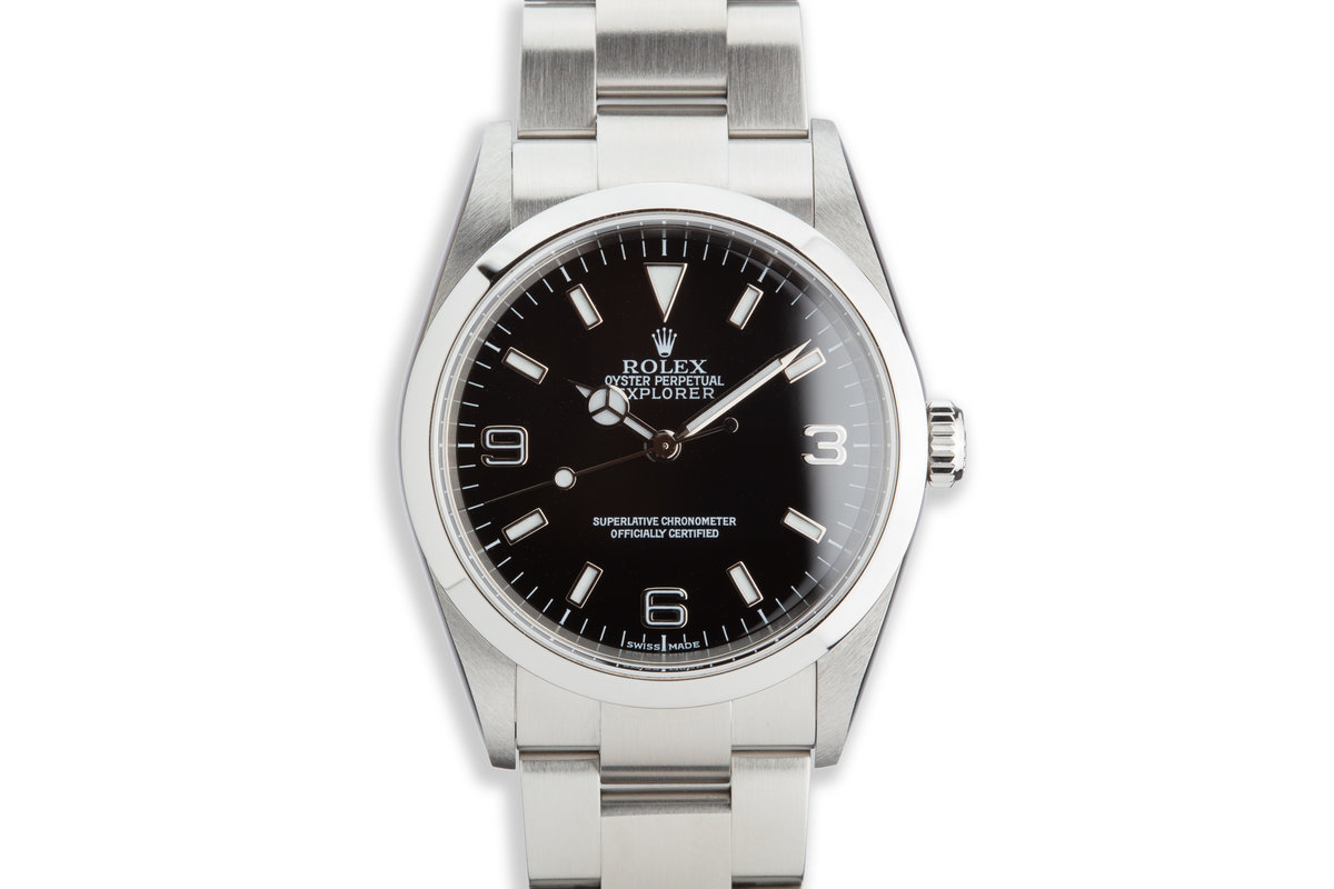 2002 Rolex Explorer 114270 with Papers photo, #0