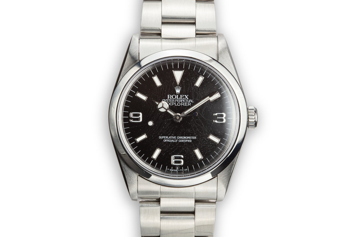 """1993 Rolex Explorer 14270 """"Spider"""" Dial with Box, Papers, and ServicePapers photo, #0"""