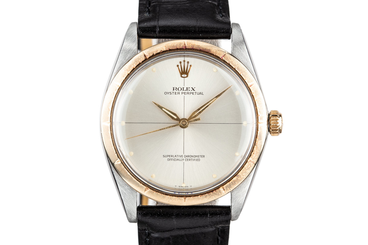 1967 Rolex Two Tone Oyster Perpetual 1008 Silver Zephyr Dial photo, #0