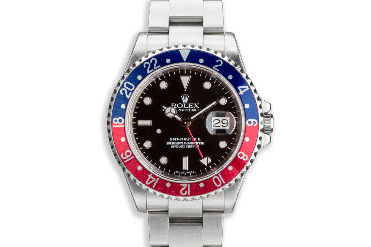 "2000 Rolex GMT-Master II 16710 ""Pepsi"" Bezel photo, #0"