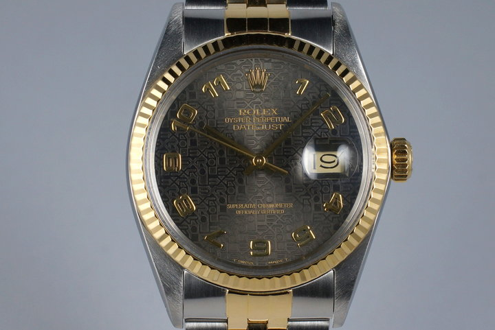 1985 Rolex Two Tone DateJust 16013 Gray Arabic Computer Dial photo