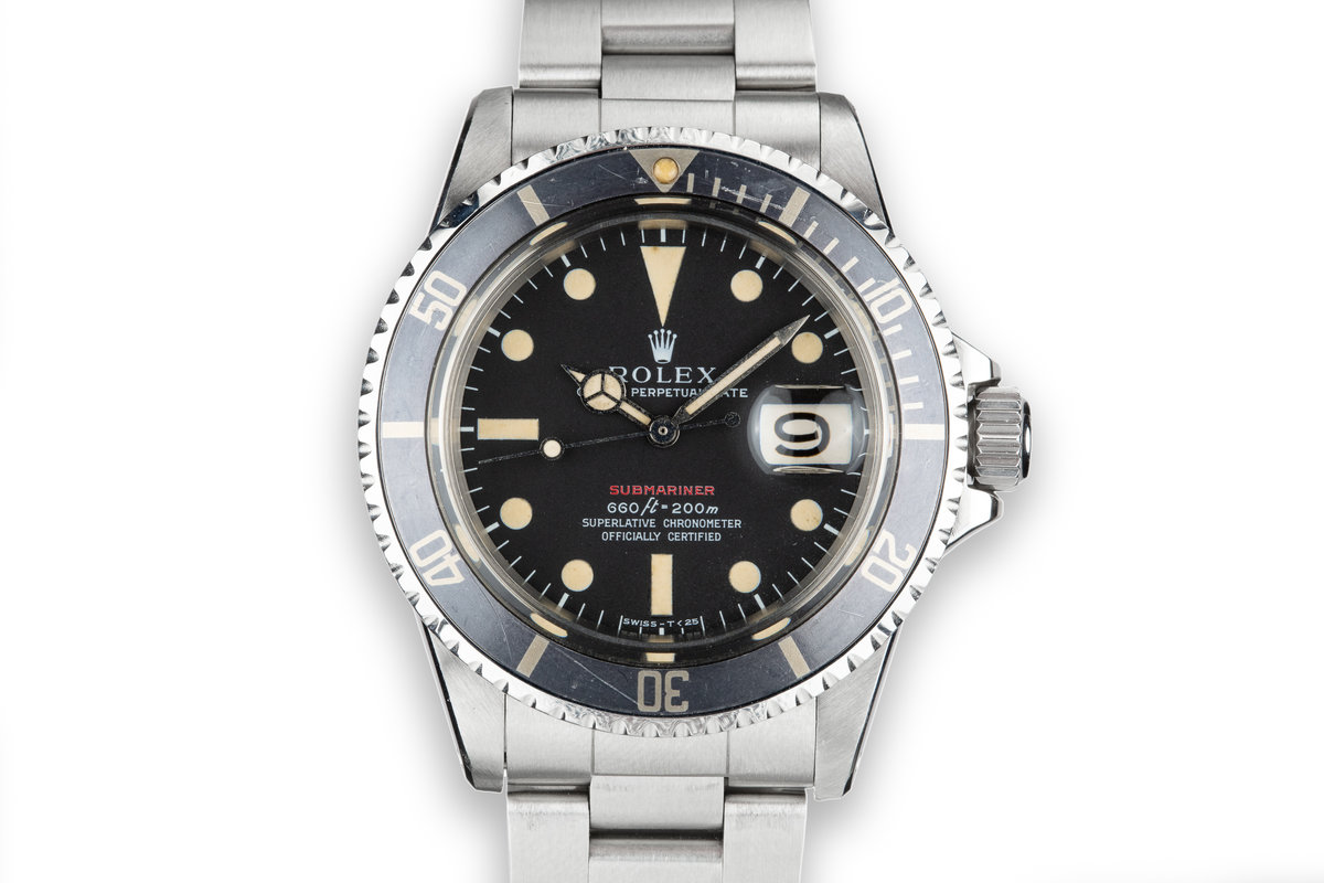 1970 Rolex Red Submariner 1680 Mark 4 Dial photo, #0