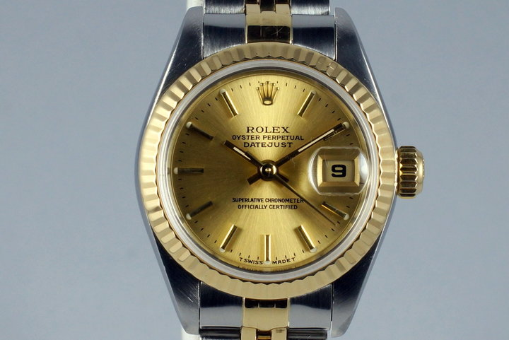 1999 Rolex Ladies Two Tone Datejust 79173 with Box and Papers photo