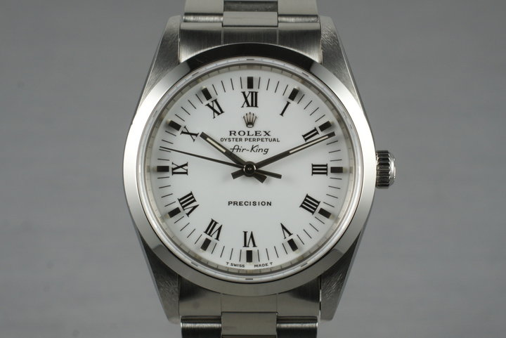 1995 Rolex Air-King 14010 White Roman Dial photo