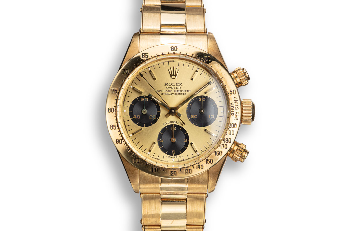 1978 Rolex 18K YG Daytona 6265 with Gold Dial from the Original Owner photo, #0
