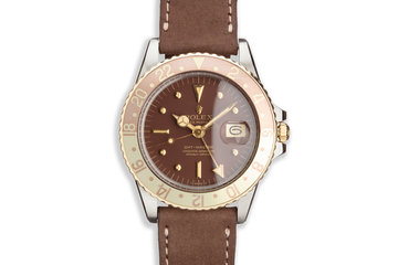 1972 Vintage Rolex Two-Tone GMT-Master 1675 with Brown Nipple Dial photo