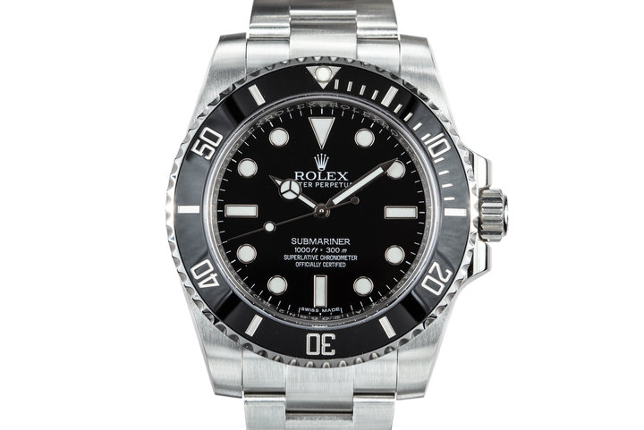 2016 Rolex Ceramic Submariner 114060 with Box and Papers photo