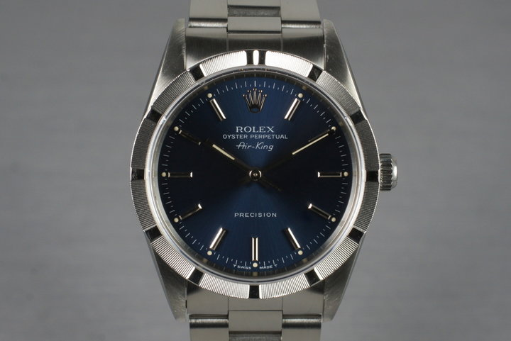 1991 Rolex Air-King 14010 with Box and Papers photo