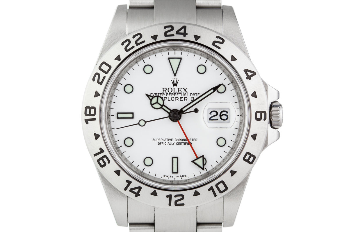 2009 Rolex Explorer II 16570 White Dial with Box and Papers and 3186 Movement photo, #0