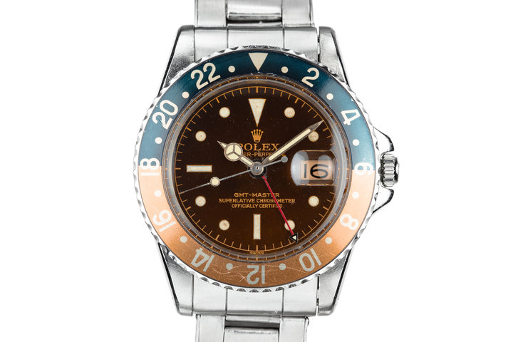 1961 Rolex GMT-Master 1675 Tropical Gilt Chapter Ring Dial with Box and Papers photo