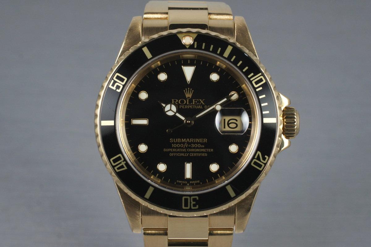 2003 Rolex 18K Submariner 16618 photo, #0