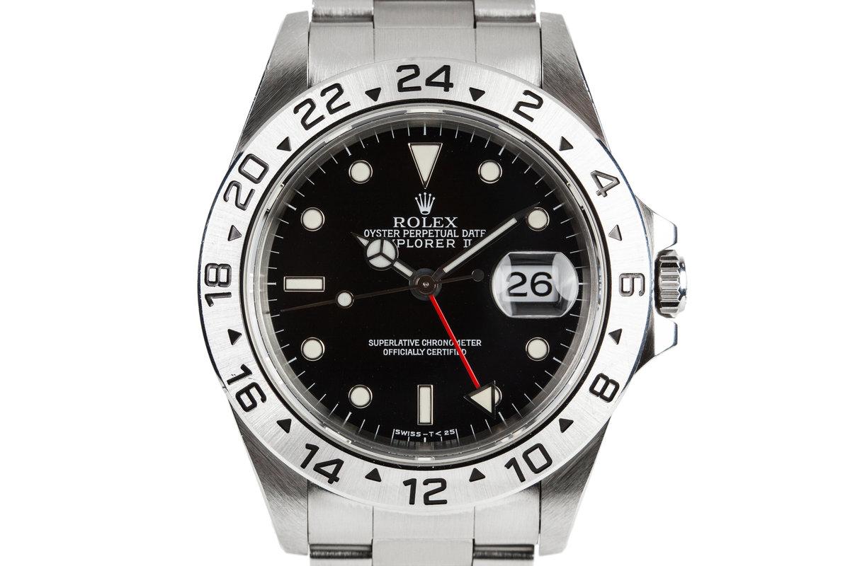 1997 Rolex Explorer II 16570 Black Dial photo, #0