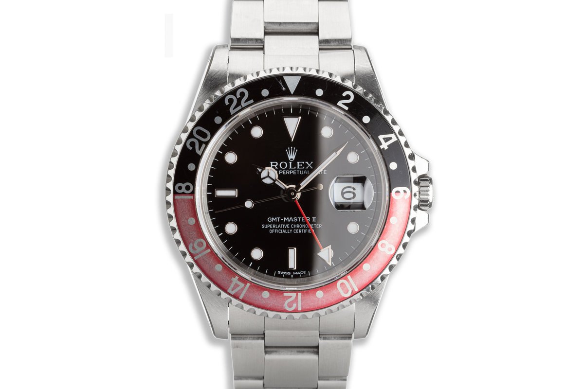 """1996 Rolex Unpolished GMT-Master II 16710 """"Coke"""" Bezel with Box & Papers photo, #0"""