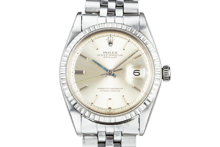 1968 Rolex DateJust 1603 with No Lume Silver Dial photo