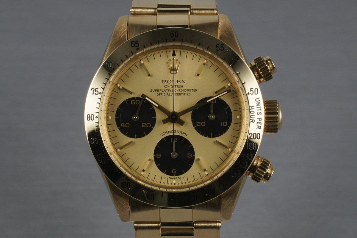 HQ Milton , 1987 Vintage Rolex Daytona 18K 6265 with Gold