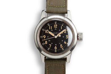 1950s Bulova A17A U.S. Military Issued Hacking Navigational Model photo