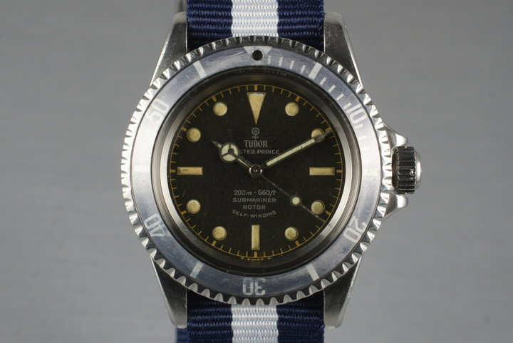1965 Tudor Submariner 7928 Chapter Ring Dial with Service Papers photo