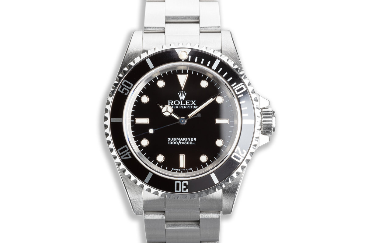 1991 Unpolished Rolex Submariner 14060 with Box & Papers photo, #0