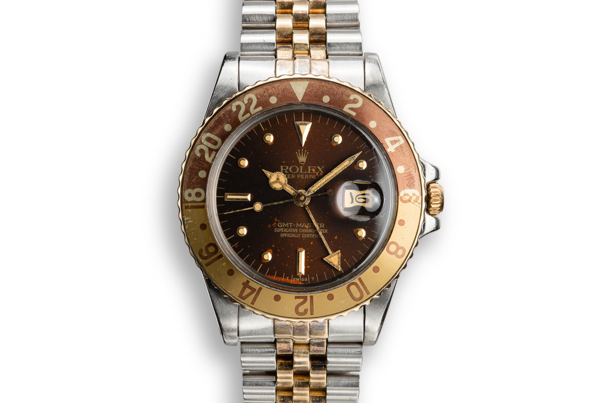 """1979 Rolex GMT-Master 16753 with """"Root Beer"""" Nipple Dial photo, #0"""