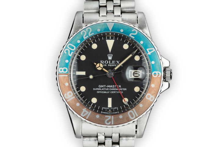 1967 Rolex GMT-Master 1675 with Mark 1 Dial and Small 24 Hour Hand photo