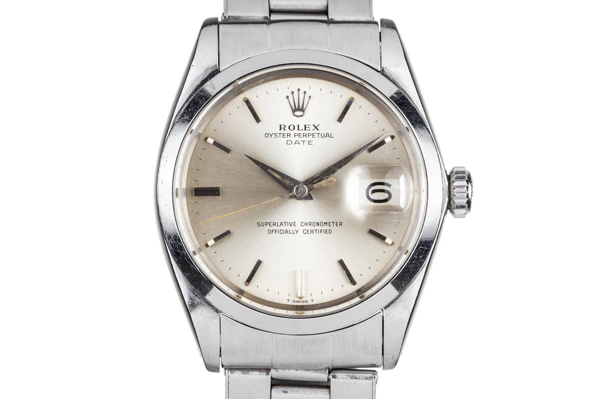 1964 Rolex Date 1500 Silver Dial photo, #0