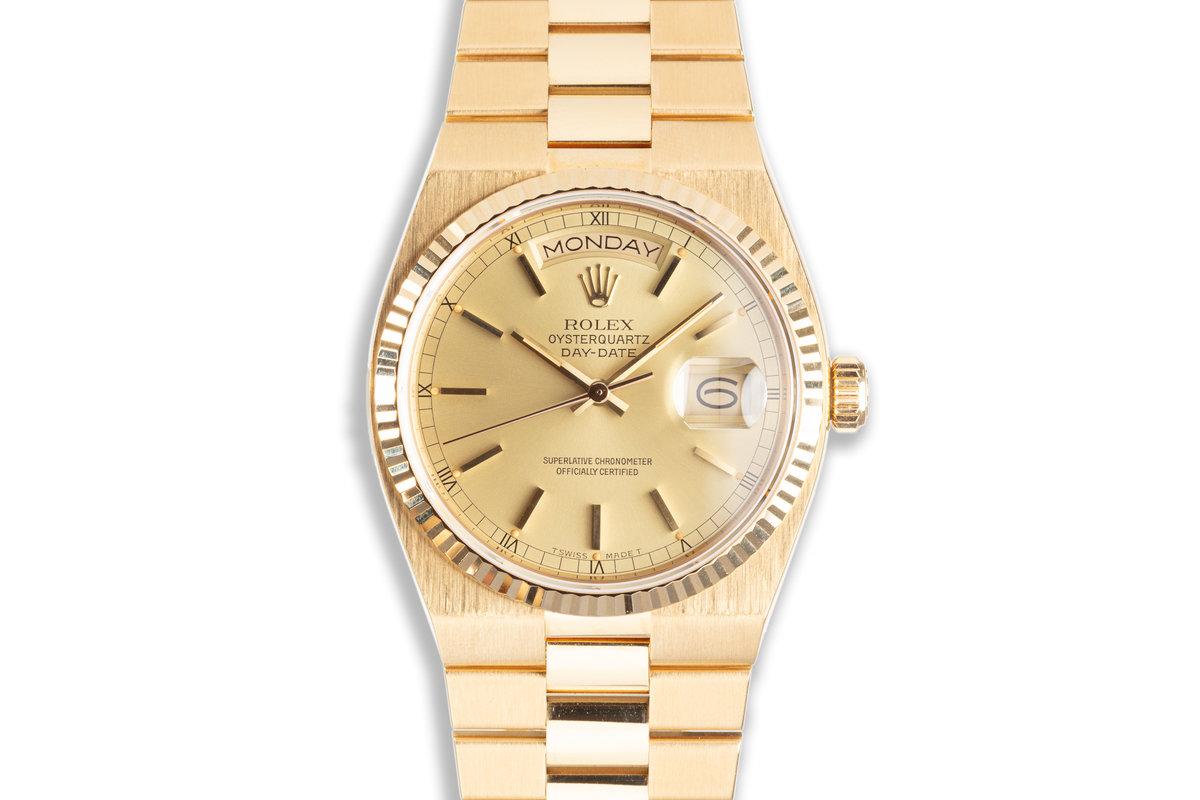1987 Rolex Oysterquartz 19018N 18k Day Date photo, #0