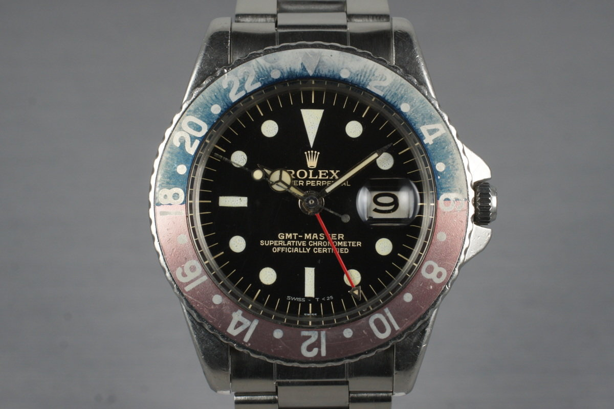 1963 Rolex GMT 1675 PCG with Glossy Gilt Double Swiss Dial photo, #0