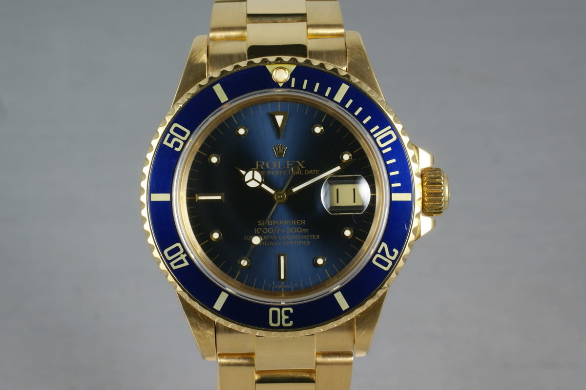 Submariner 18K  16808 Blue Nipple Dial photo, #0
