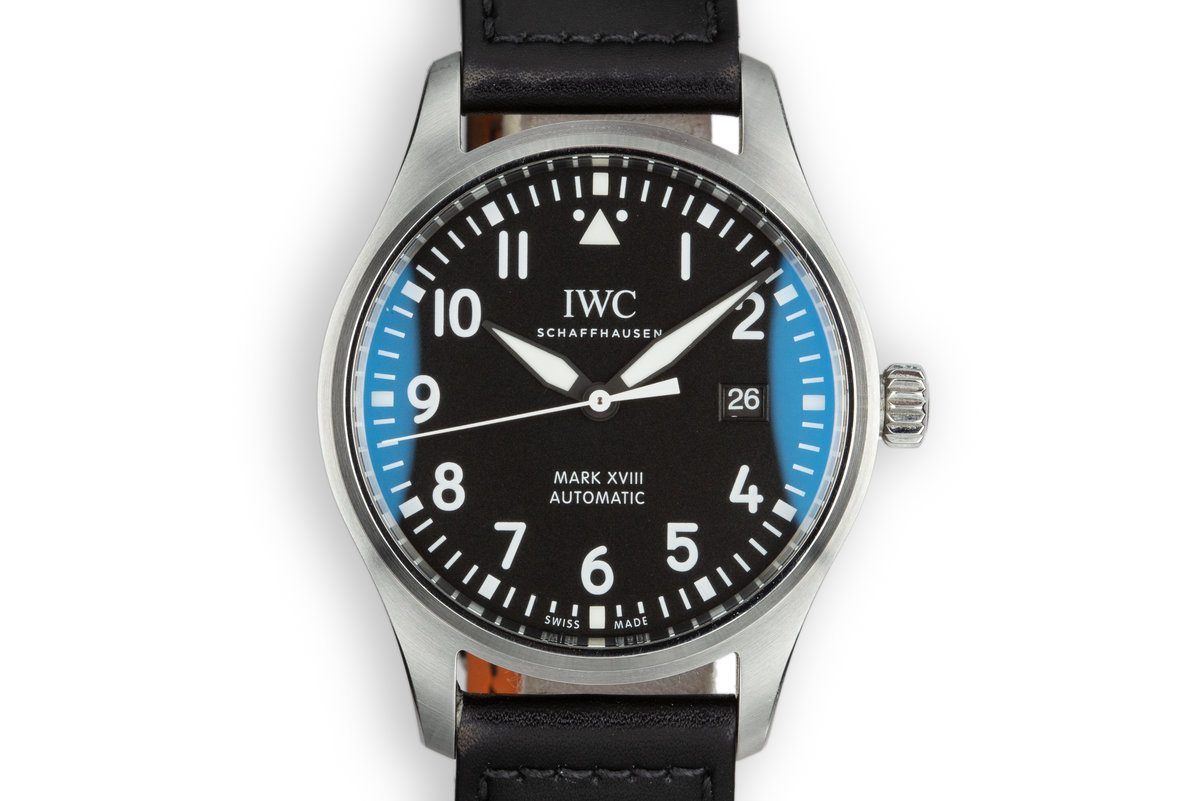 2017 IWC Mark XVIII Pilot's Watch IW327001 with Box and Papers photo, #0