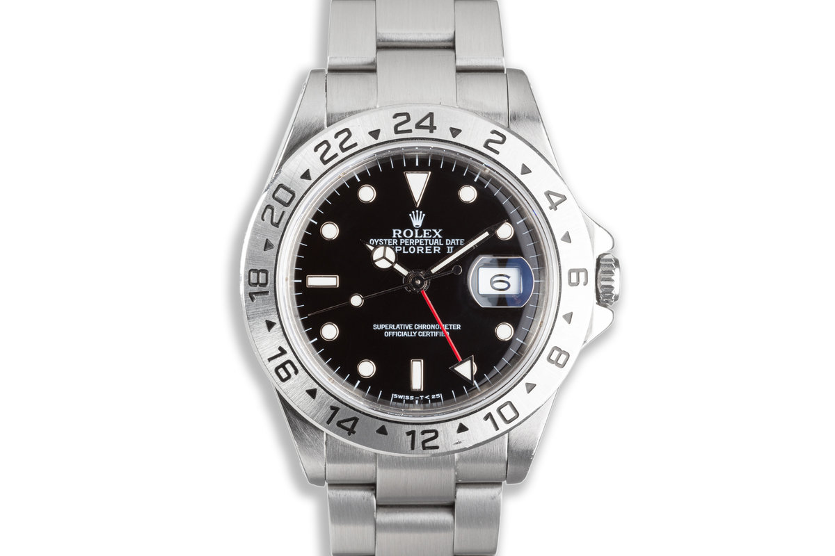 1988 Rolex Explorer II 16570 Black Dial with Service Papers photo, #0