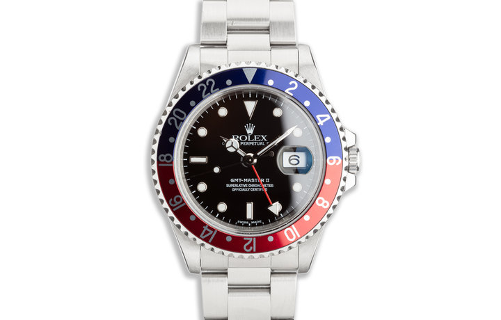 """1999 Rolex GMT-Master II 16710 """"Pepsi"""" with Box and Papers photo"""