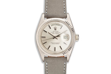 1972 Vintage Rolex WG Day-Date 1803 on Leather Strap photo