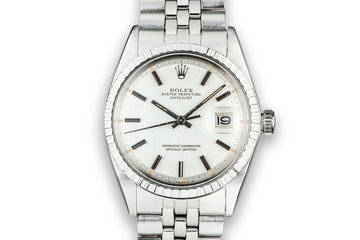 1973 Rolex DateJust 1603 Silver Sigma Dial photo