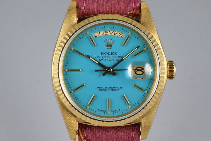 1979 YG Day-Date 18038 Baby Blue Stella Dial photo