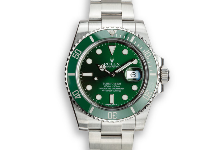 "2014 Rolex Submariner 116610LV ""Hulk"" with Box and Papers photo"