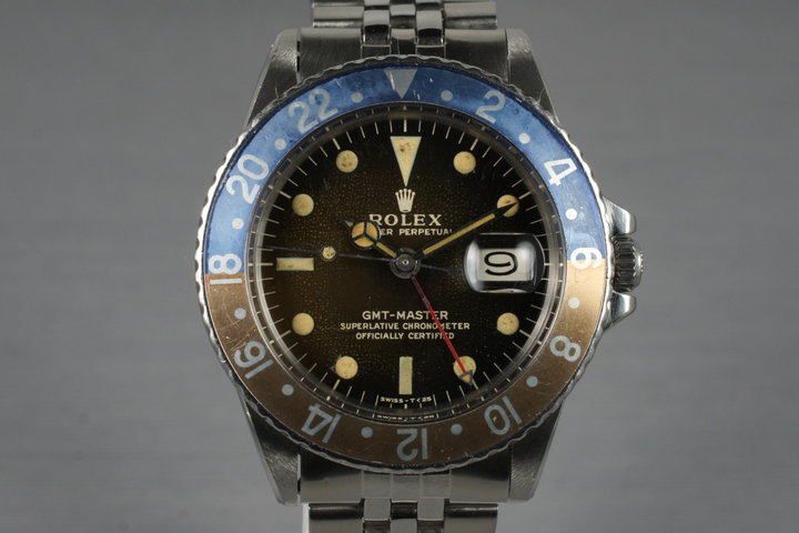 1966 Rolex GMT 1675 Glossy Gilt Dial with Box and Papers photo