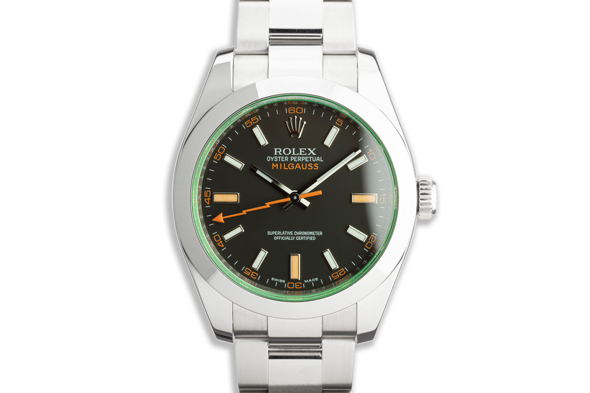 2011 Rolex Milgauss 116400GV Black Dial with Box and Card photo, #0