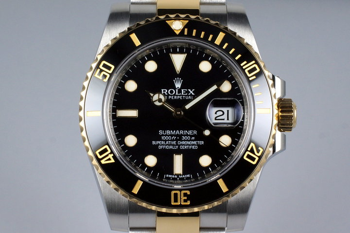 2012 Rolex Two Tone Submariner 116613 Black Dial photo